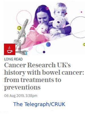 Link to article on CRUK's progress in treating bowel cancer