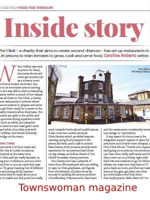 Link to article on The Clink, a charity teaching prisoners hospitality skills