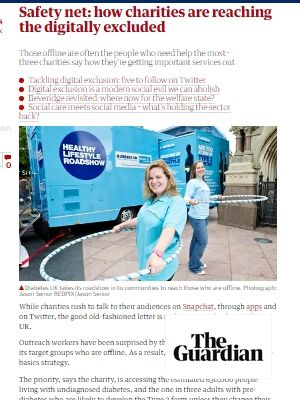 Link to article on how charities are reaching the digitally excluded