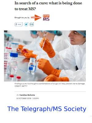 Link to article on progress in treating MS