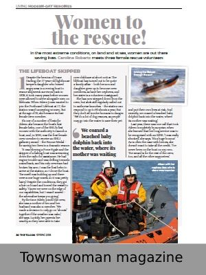 Link to article on women in the rescue services