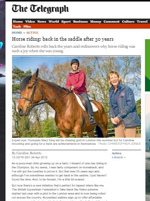 Link to article on taking up riding again in middle age